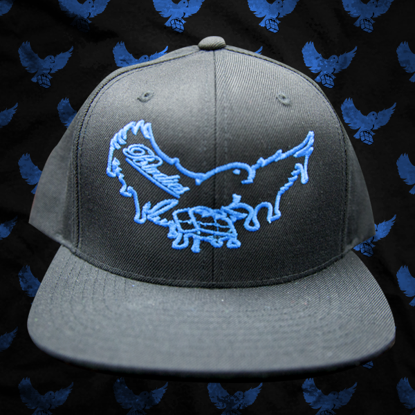 Image of Black/Blue Dripping Snapback