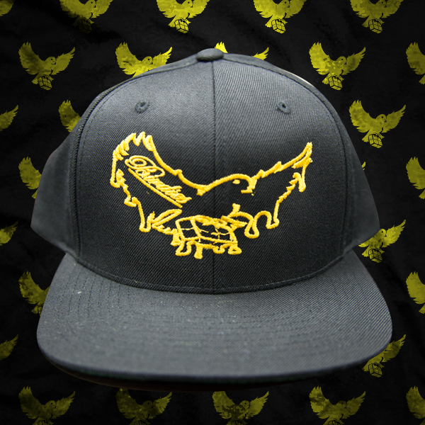 Image of Black/Gold OG Dripping Snapback