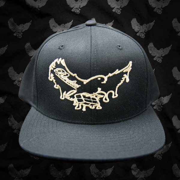 Image of Black/Beige Dripping Snapback