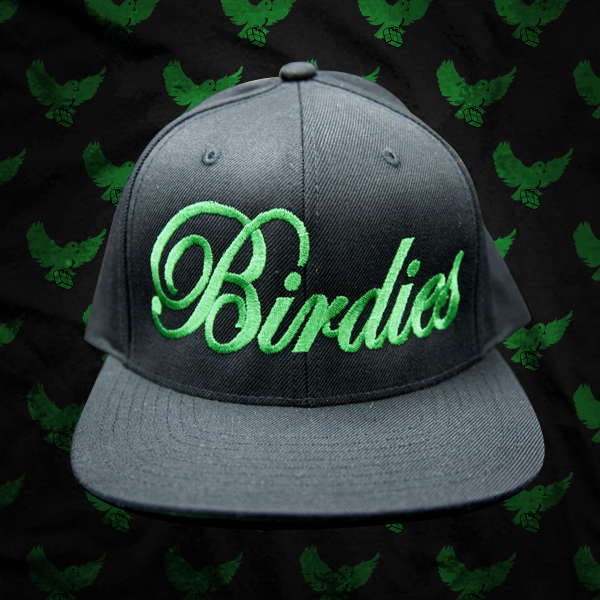 Image of Black/Green Birdies Script Snapback