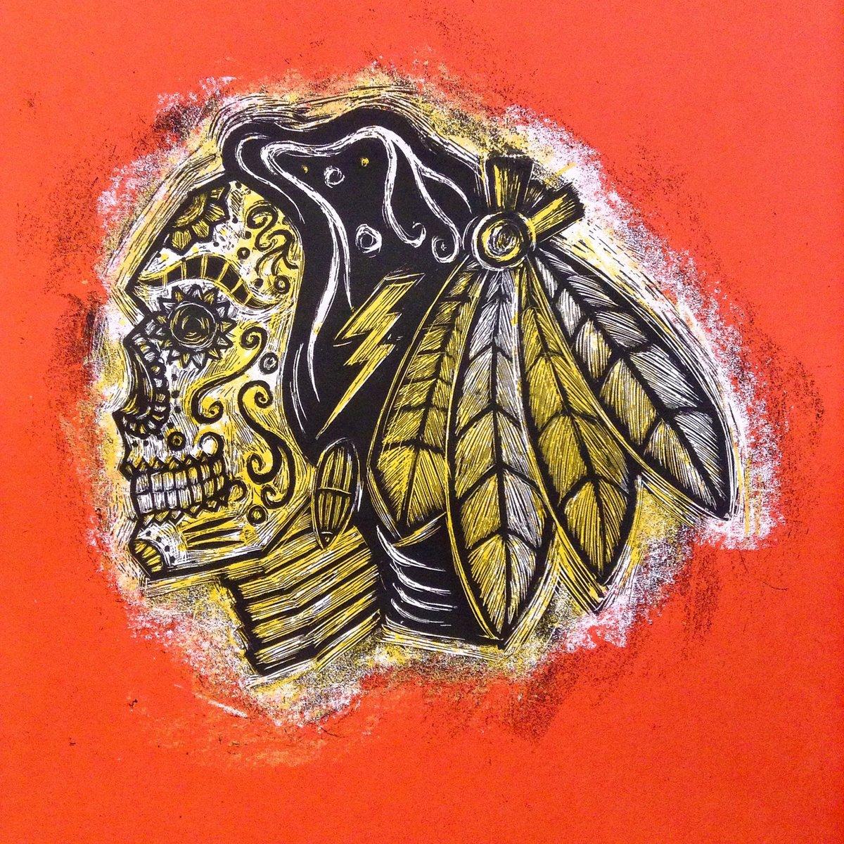 Hawks sugarskull print