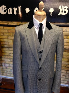 "Image of The ""Brian"" three-piece suit in puppy tooth check"