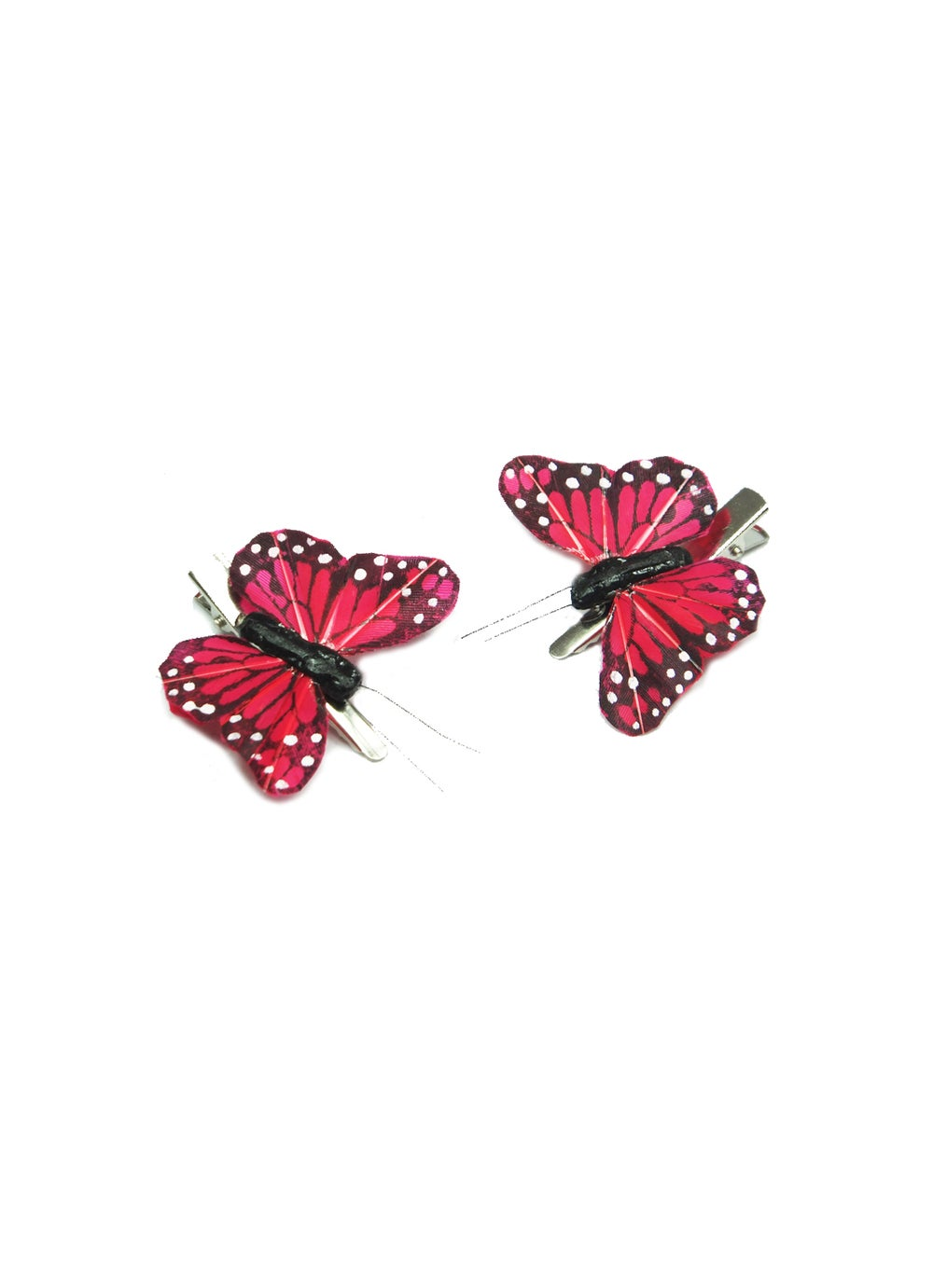 Image of Hand Painted Monarch Butterfly Hair Clips - Red