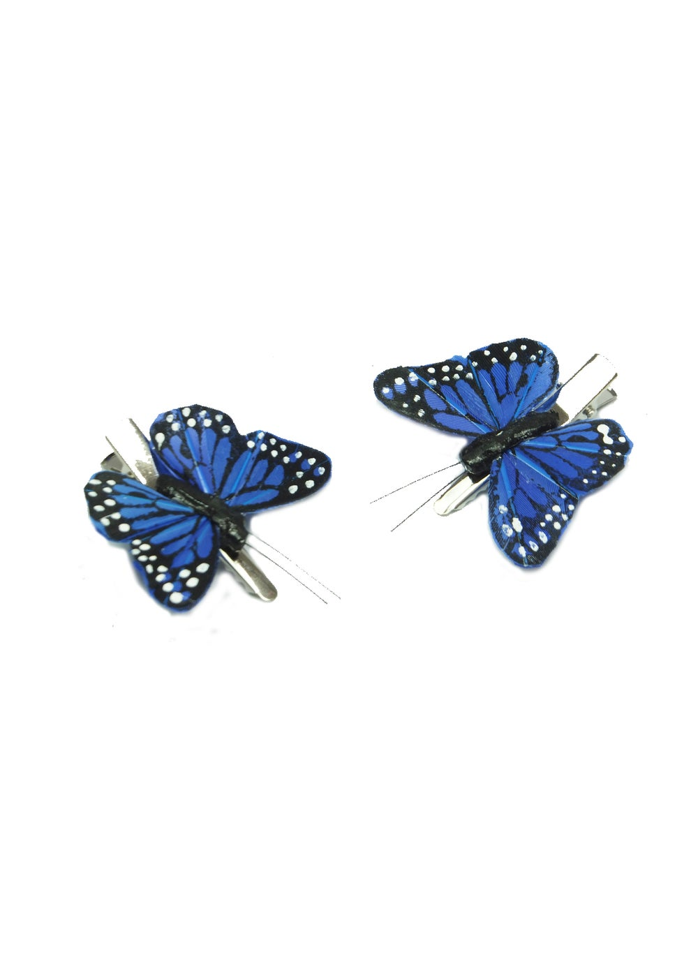 Image of Hand Painted Monarch Butterfly Clips - Cobalt