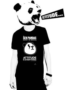 Image of Sex Attitude Crew Neck Tee Black