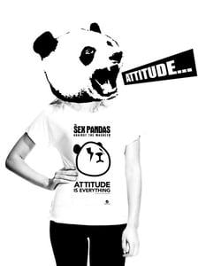 Image of Sex Attitude Scoop Neck Tee White