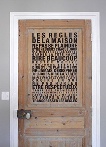 Image of Sticker mural Les Règles de la Maison