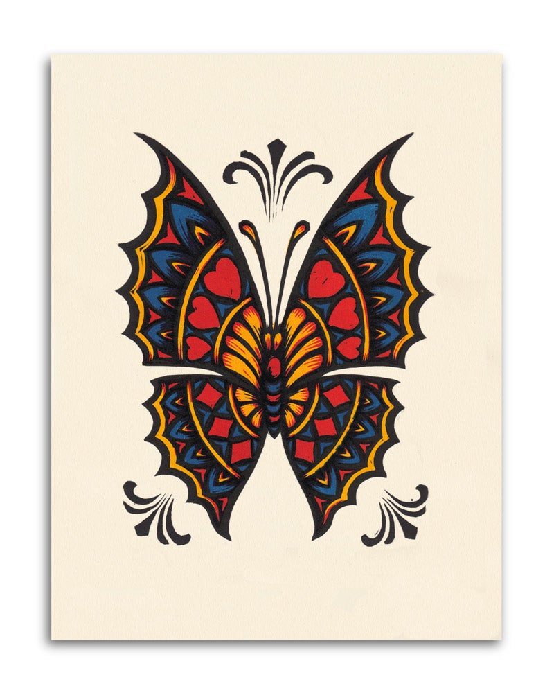 Image of Card Pattern Butterfly