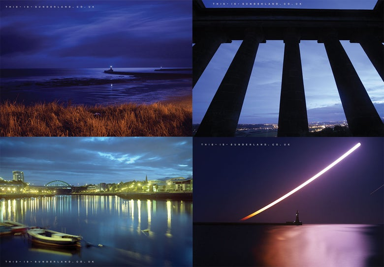 Image of This is Sunderland Postcard set (4 Wearside Scenes)