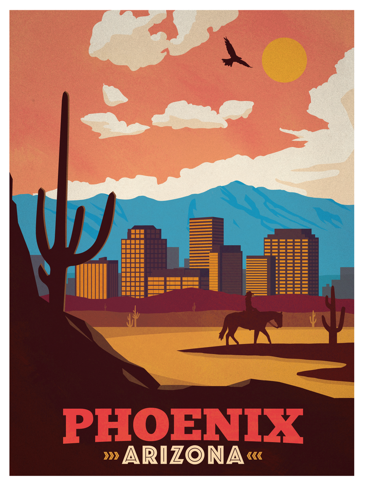 Image of Vintage Phoenix Poster
