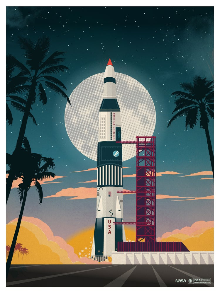 Image of Vintage Cape Canaveral Print