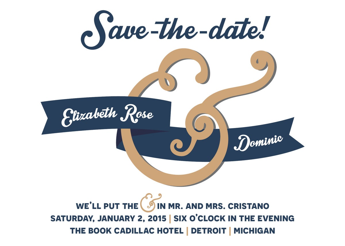 Ampersand Save-the-Date card