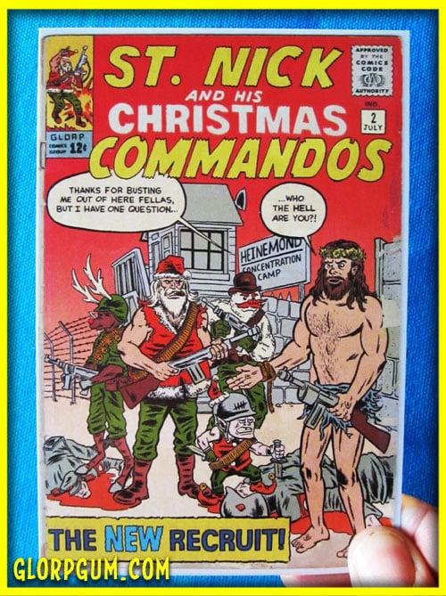 St. Nick and His Christmas Commandos Holiday Cards