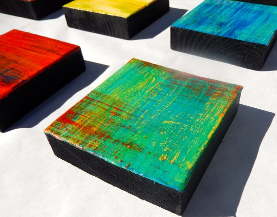 Image of 'RHAPSODY' | Wood Art | Abstract Paintings Wood | Colorful Wall Art | Wood Wall Sculpture