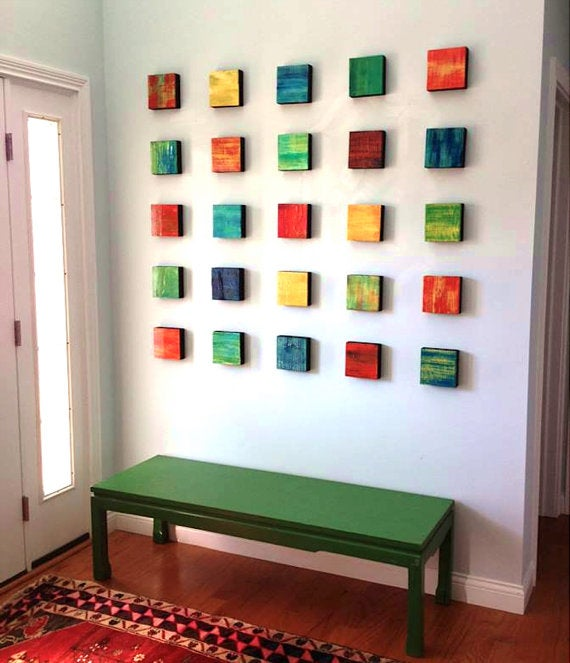 Rhapsody Wood Art Abstract Paintings Wood Colorful