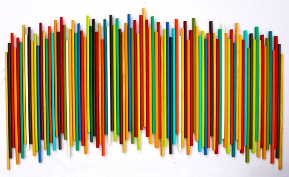 Image of 'STICKS IN HARMONY' |Large Wood Stick Wall Sculpture | Natural Wood | Modern Art | Original Wall Art