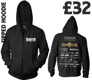 Image of Damnation 2014 Zipped Hoodie