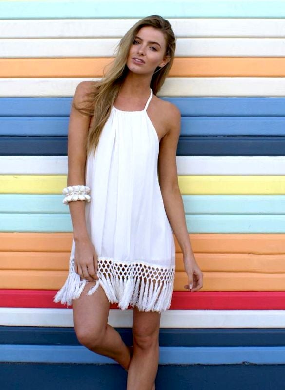 Image of Malibu Tassel Dress
