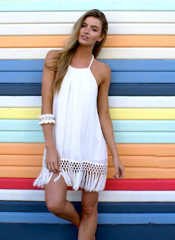 Image of Malibu Tassel Dress