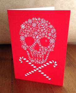 Image of Candy Skull Holiday Card - 1 Card / 1 Envelope