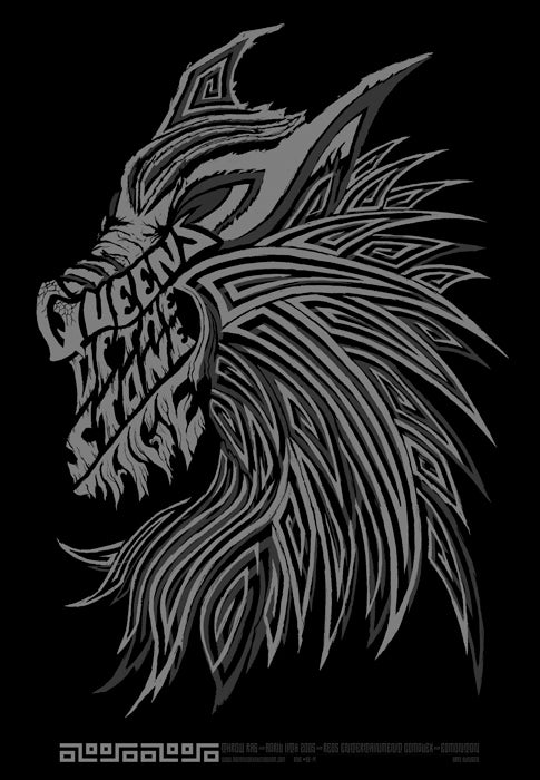 Image of QOTSA Edmonton (Silver) • '05 Screen Print