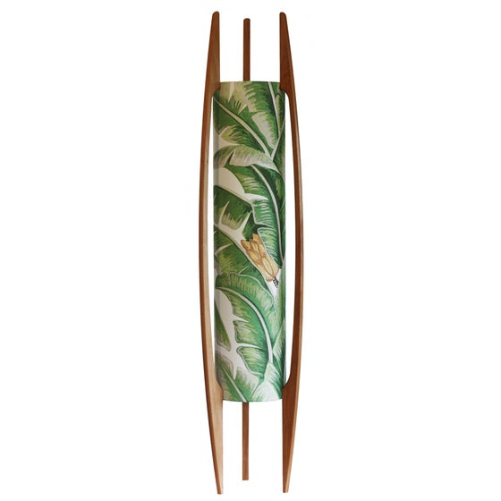 Image of Palm Leaf Rocket Lamp (tall)