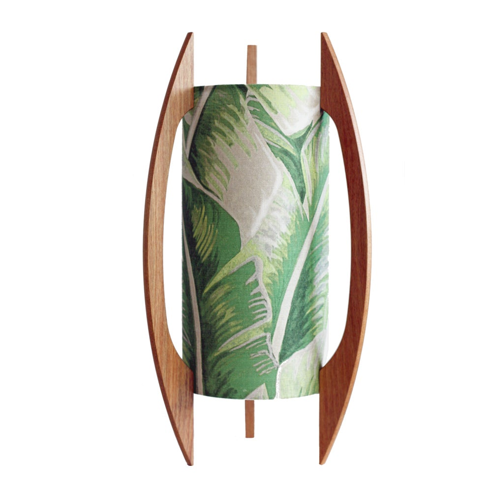 Image of Palm Leaf Rocket Lamp (small)