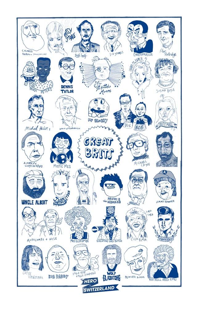 Image of GREAT BRITS / Tea Towel //