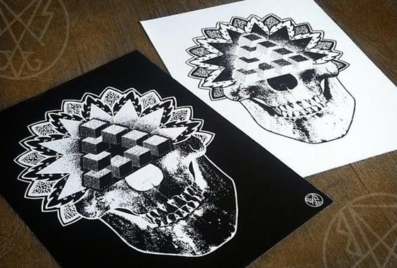 Image of BSV Mandala Skull Print