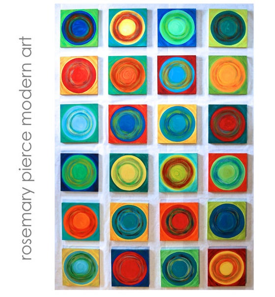 Image of 'DANCING CIRCLES' | Original Abstract Wall Art | Geometric Painting | Colorful Art