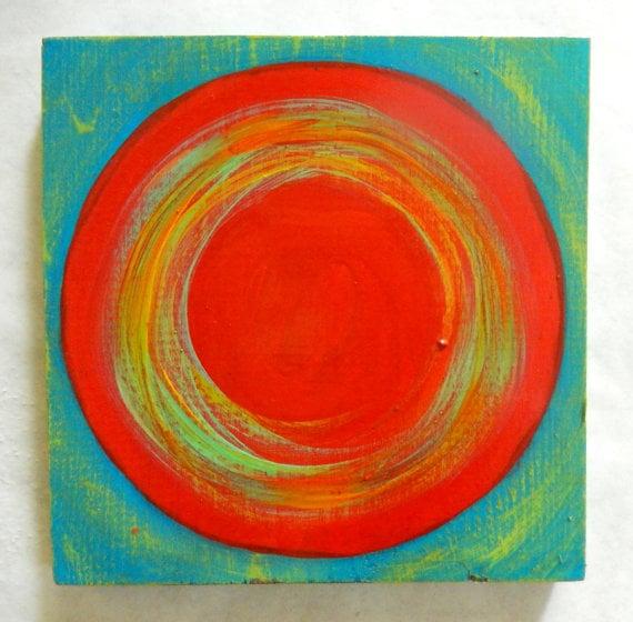 Image of 'DANCING CIRCLES' | Original Abstract Wall Art | Geometric Painting | Colorful Art