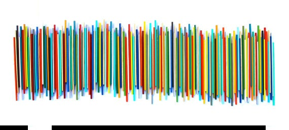 Image of 'STICKS IN MULTICOLOR' | Wood Stick Wall Sculpture | Large Wall Art | Modern Art for Sale