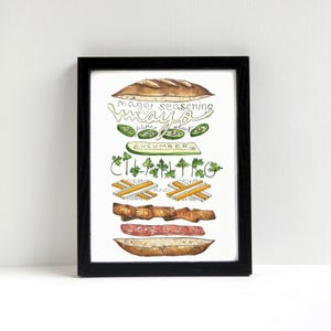 Image of Banh Mi Exploded Sandwich Print