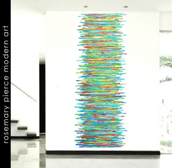 Image of Modern Abstract Art | Painted Wood Wall Sculpture | Original Art | Wood Wall Art