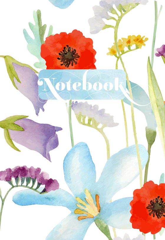 Image of Watercolor Blooms Notebook