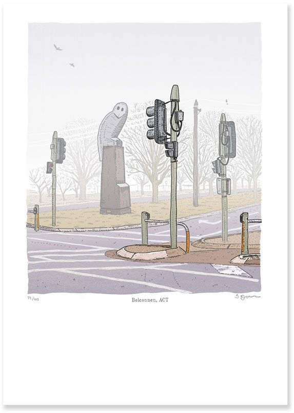 Image of Belconnen Owl Limited Edition Digital Print