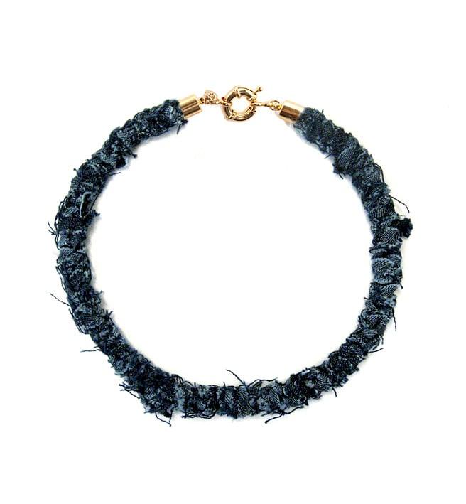 Image of REworked Dark Denim Thin Necklace