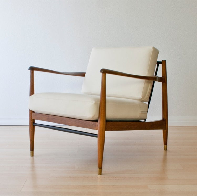 Remarkable Danish Lounge Chair White Wool Upholstery Andrewgaddart Wooden Chair Designs For Living Room Andrewgaddartcom
