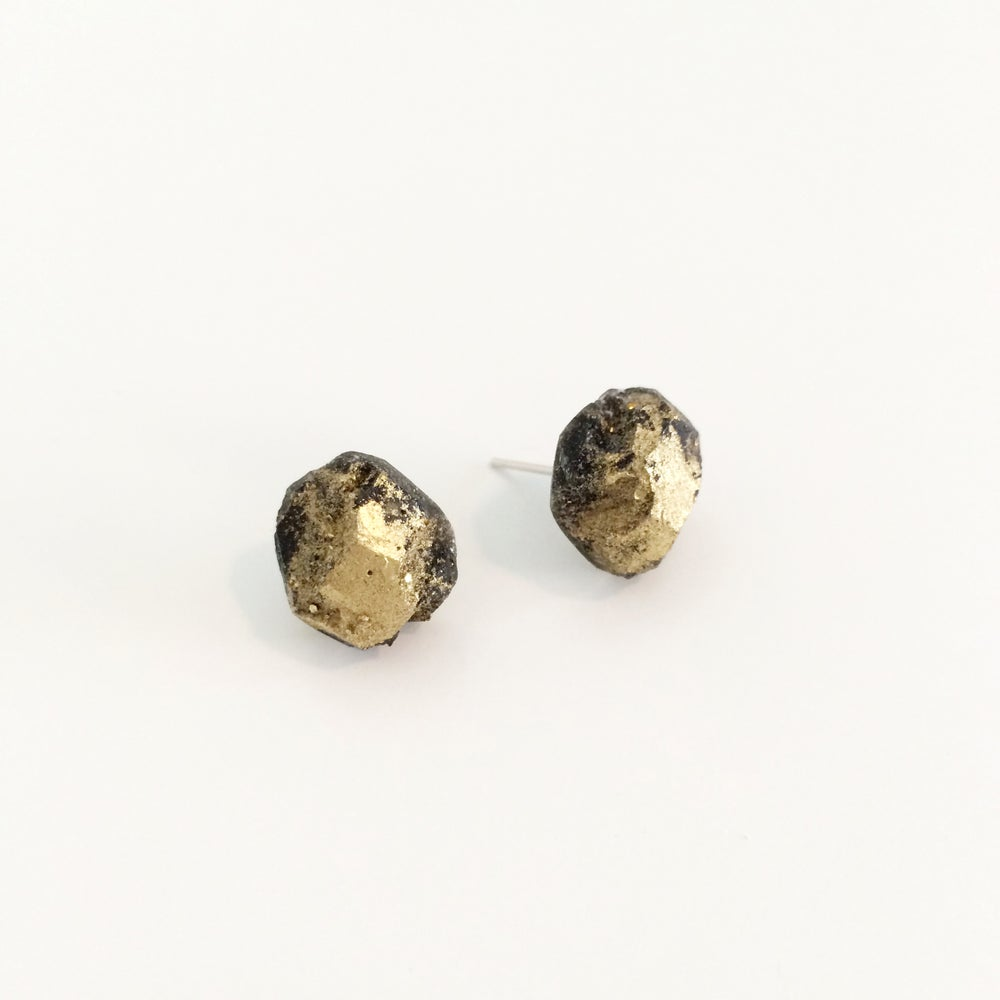 Image of Resin Rock Earrings 2