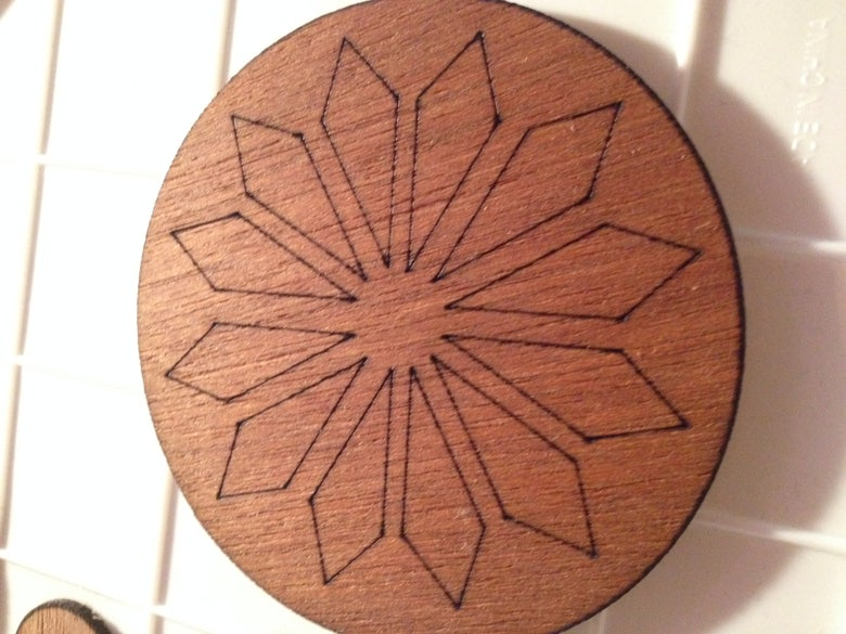 Image of Laser-engraved Wood Coasters
