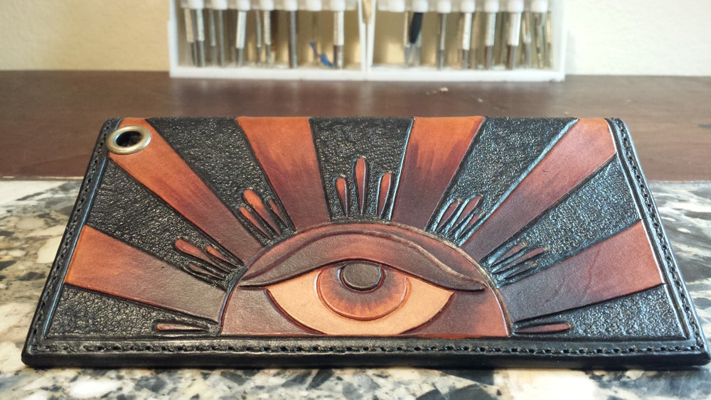Image of All Seeing Eye Long Wallet ,3 week delivery