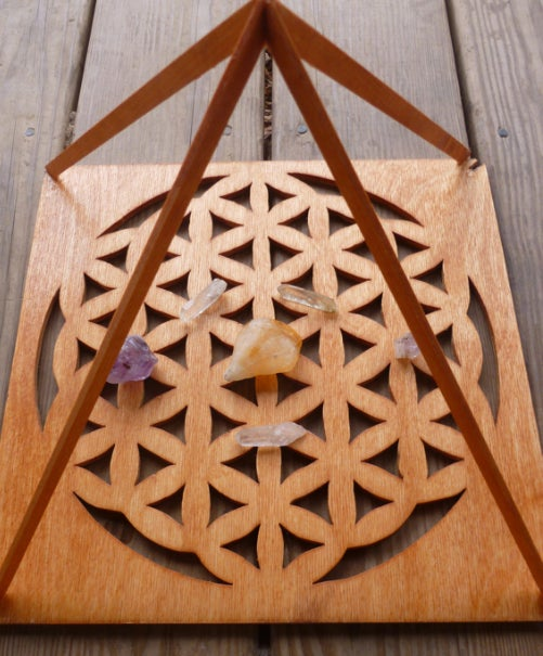 Eternalglyphics Flower Of Life Pyramid
