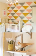 Triangle Pieces Wall Decal - Arrange your own WALL PATTERN