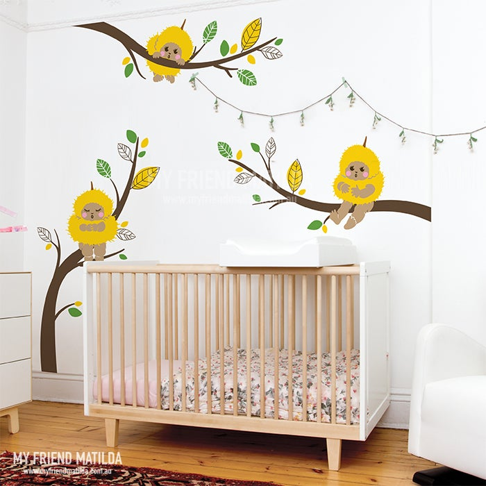 Gumnut Babies Wattle Babies On Branches Wall Decals