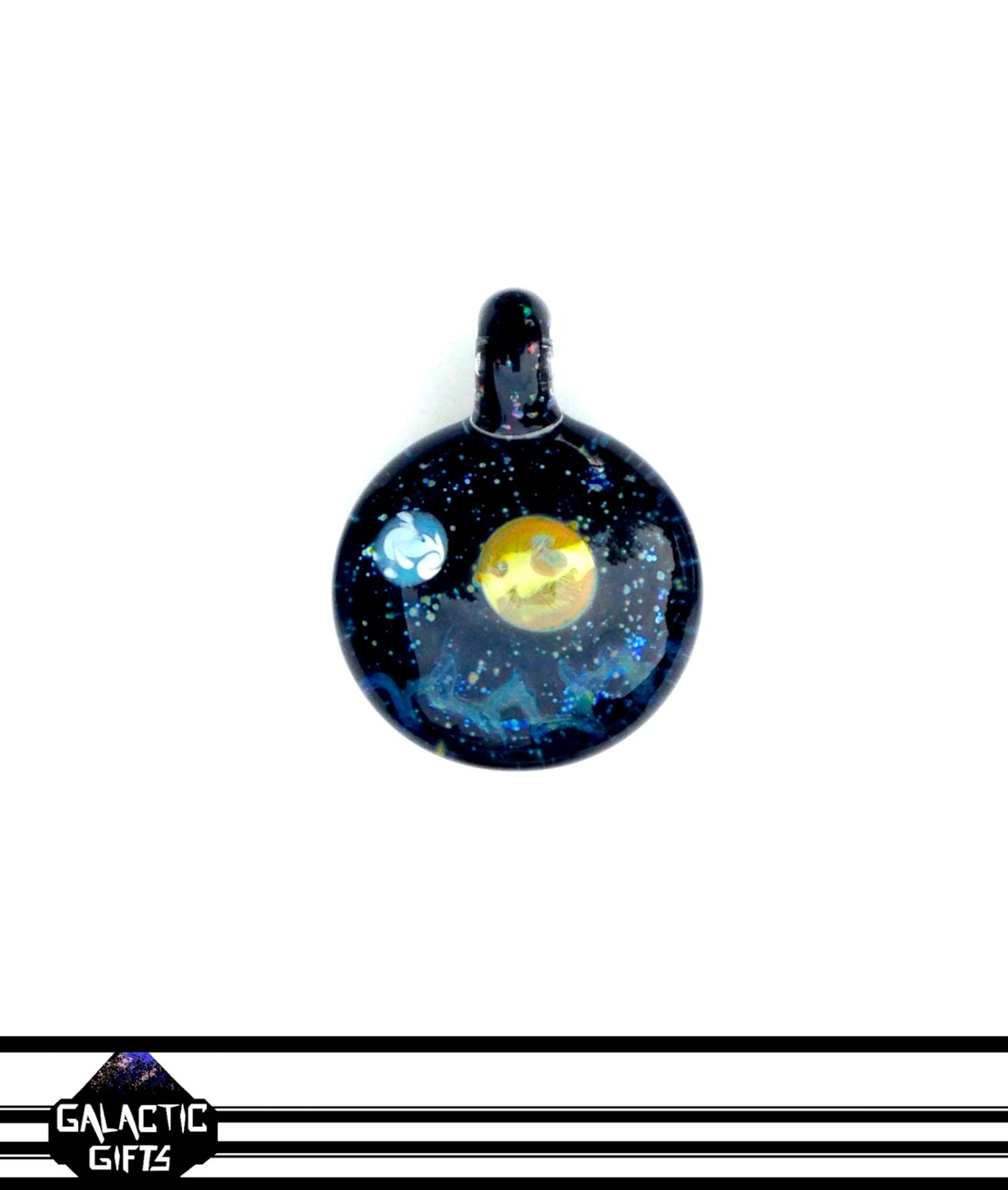 Image of Joe Whitten Crushed Opal Galaxy Space Pendant 4