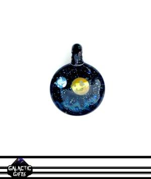 Image of Joe Whitten Crushed Opal Galaxy Space Pendant 4
