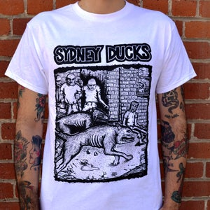 """Image of SYDNEY DUCKS - """"Mutant Skin"""" T-shirt (white)"""