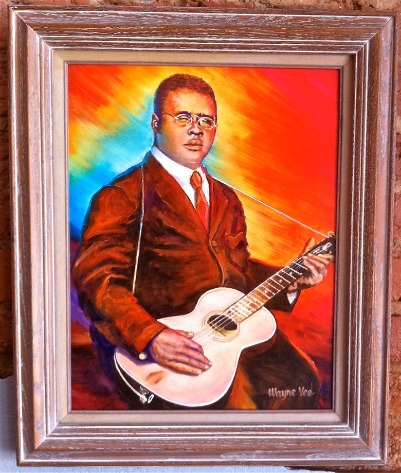 "Image of ""Blind Lemon"" Jefferson • Original Oil Painting"