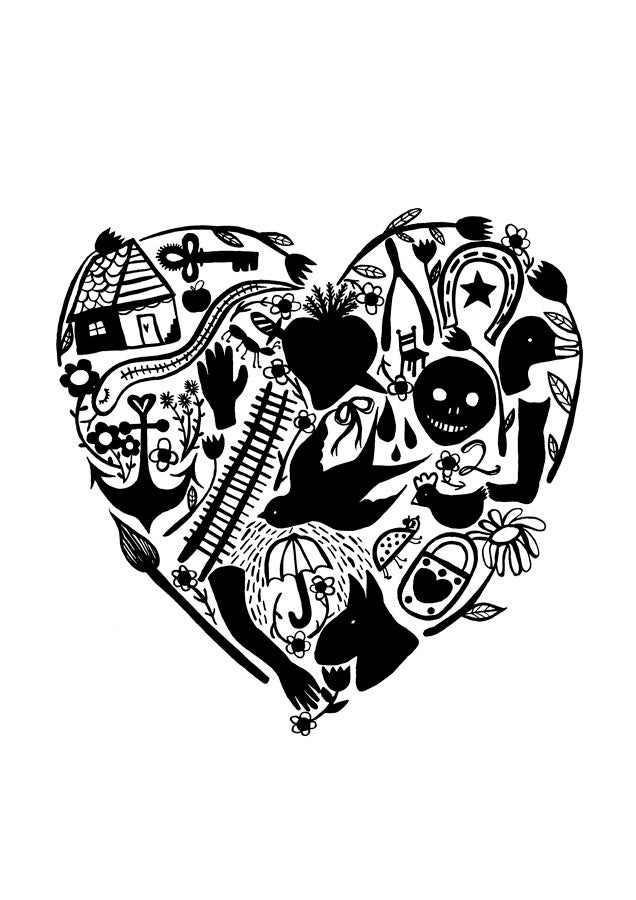 Image of Milagro Heart Prints
