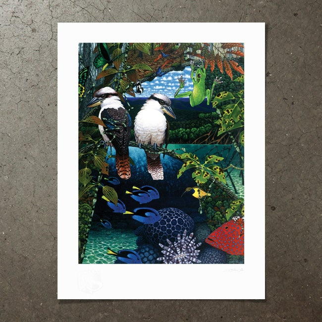 Image of Reef and Rainforest - Art Print